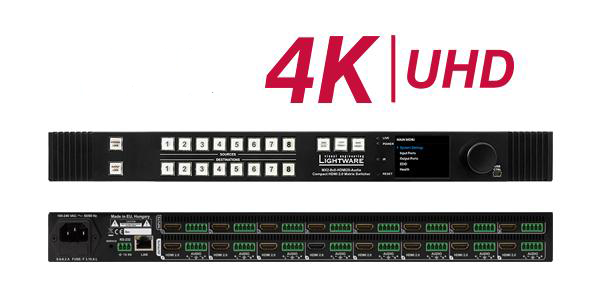 Новый 4K HDMI коммутатор Lightware MX2-8x8-HDMI20-Audio уже доступен для заказа!
