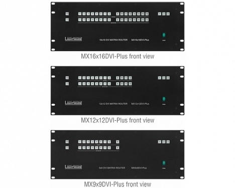 MX9x9DVI-Plus, MX12x12DVI-Plus, MX16x16DVI-Plus.  �3
