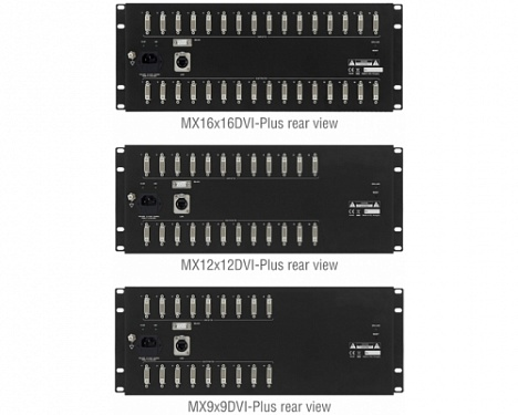 MX9x9DVI-Plus, MX12x12DVI-Plus, MX16x16DVI-Plus.  �2